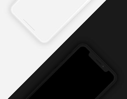 Minimal dark and light iPhone X mockup