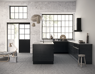 Scandinavian kitchen - 3D rendering