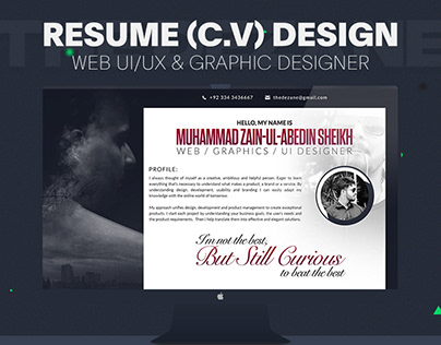 Resume Graphics & Web UI/UX Designer