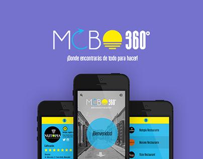 Prototipo de diseño para app movil: MCBO 360°
