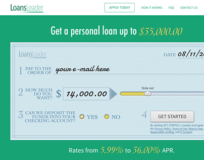 Loans Leader website design