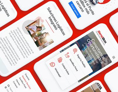 Sitio Web Empresa de Logística SendBox