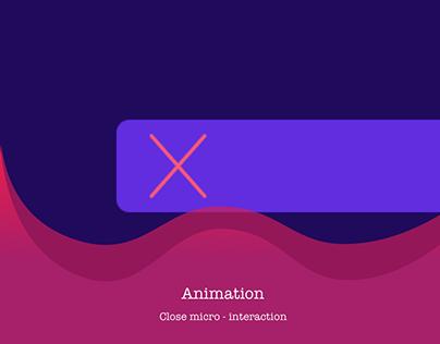 Close Micro-interaction