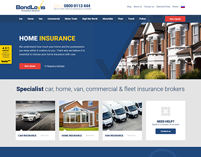 Bond Lovis Insurance Brokers Web Design