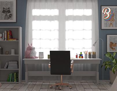 3D KID'S BEDROOM VISUALIZATION