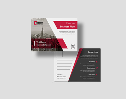 Corporate Business Double Sided Professional Postcard.