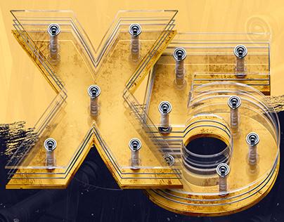 X5 GOLDEN RUSTY 3D FONT