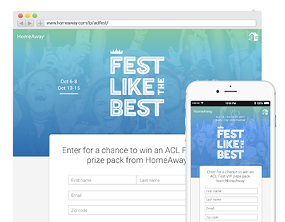 HomeAway 2017 ACL Fest Like the Best Sweepstakes