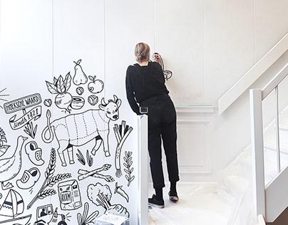 Mural at Kookstudio Hoeksche Waard