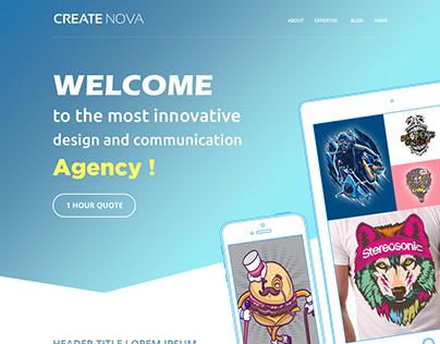 CreateNOVA Web agency Website