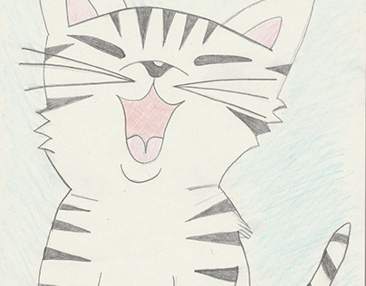 My hand drawn images - Funny Cat