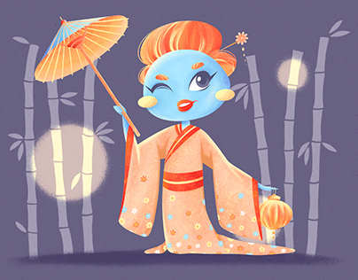 BRAND CHARACTER DESIGN for the mochi production