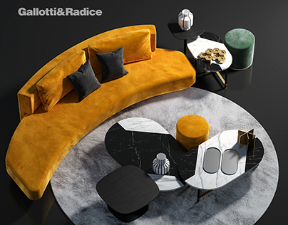 [FREE 3D MODEL] GALLOTTI & RADICE Sofa Set