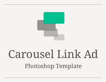 Facebook Carousel Link Ad Free Photoshop Template On Behance - Facebook ad photoshop template