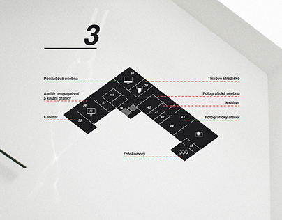 Signage & Wayfinding - Graphic school