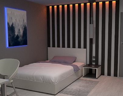 3D visualization of the interior of the room