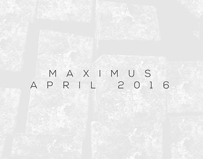 Maximus April 2016 Collection