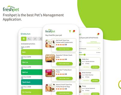 Freshpet IOS App for Pets Management