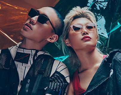 Eyewear campaign shot by Charlie Kim