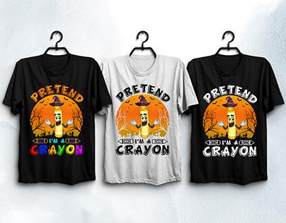 Pretend I'm A Crayon T-Shirt Design