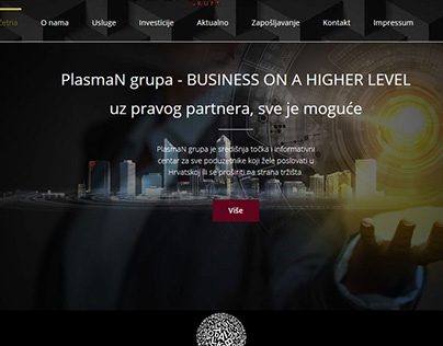 Izrada web stranice za PlasmaN grupu