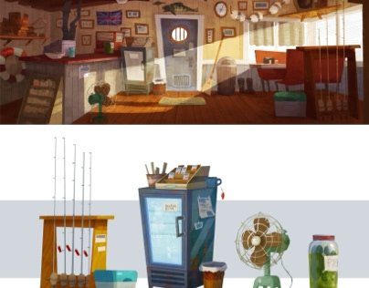 Bait Shop Visual Development