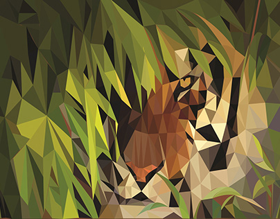 Polygonal Bengal Tiger