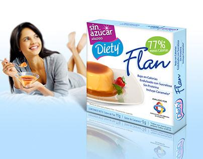 DIETY Flan bajo en calorías