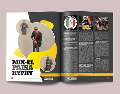 Magazine Spread Layout Design