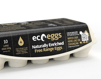 Ecoeggs Packaging Design and 3D Render