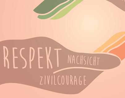 """Zivilcourage"" - Poster Entry for ""Das Buendnis"""