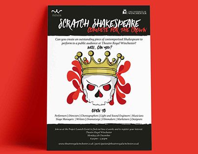 Scratch Shakespeare Poster Design