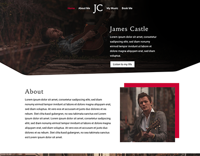 Musician Homepage Layout