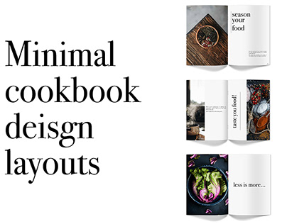 Minimal Cookbook Design Layouts