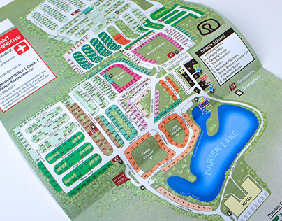 darien lake campground map Caitlin Neeland On Behance darien lake campground map