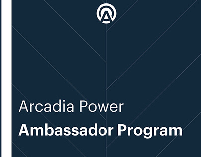 Arcadia Power Ambassador Program Packet