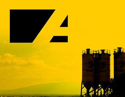 concrete market company rebranding package