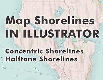 Video Tutorial - How to Make maps - Halftone Shoreline