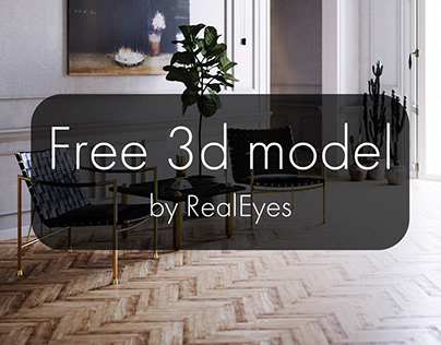 Free 3d model - Thebes Lounge Chair