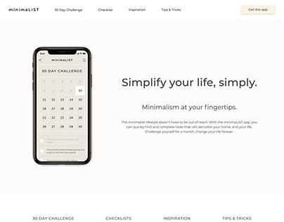 minimaLIST Landing Page