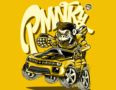 Porsche Monkey 2014 | SHIRT ILLUSTRATIONS