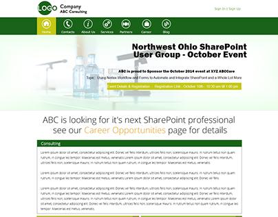 Website layout - Metro Ui