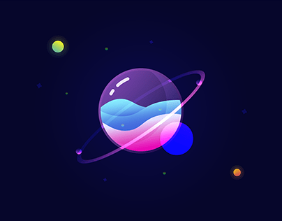 Crystal Planet (Illustration Exercise)