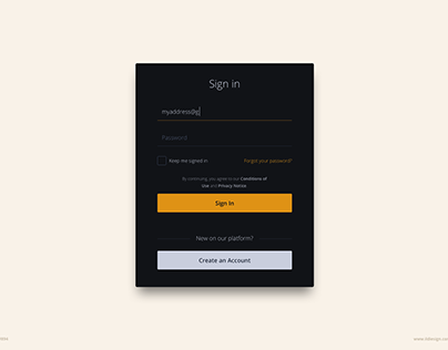 Day 894 • Sign In UI Design