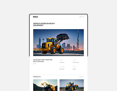 JCB — corporate website redesign