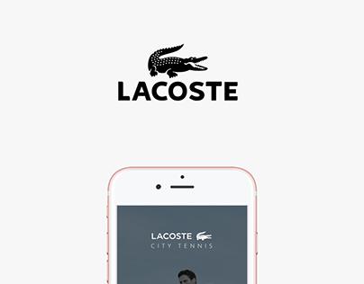 Lacoste City Tennis App