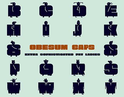 Obesum Caps -Ultra Fat Typeface-
