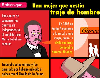 Infografía Mujer que vestía traje de hombre