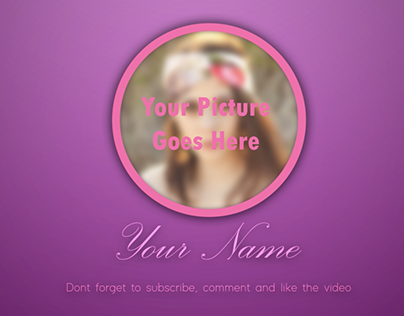 Outro video template