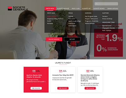 Bank Website SOCIETE GENERALE Albania